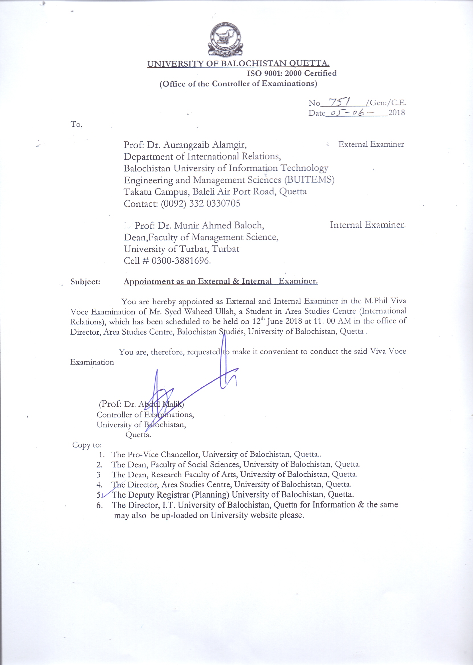 viva voce examination of ms shumaila rasheed mphil in english literature which has been rescheduled to be held on june 7 2018 at 1130 am in the video